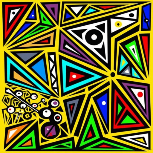Figurative digital geometric abstract art for Different types of abstract art